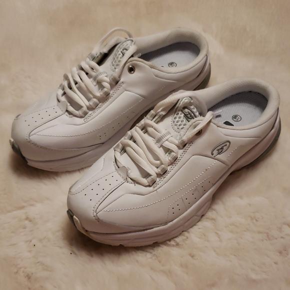 25 Dr Scholls White Open Heel Sneakers